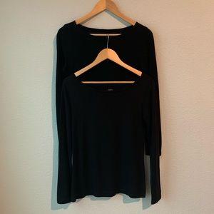 LOFT | Lot of 2 Long Sleeve Black Tops